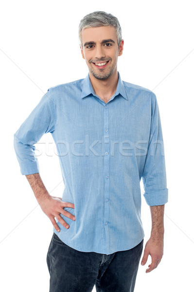 Mature man man hands on hips Stock photo © stockyimages