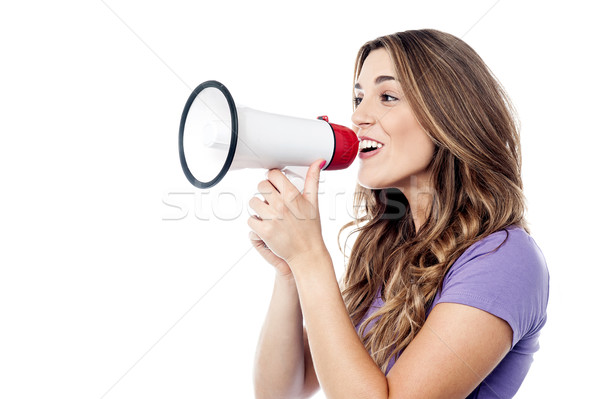Hi all, please listen to me! Stock photo © stockyimages