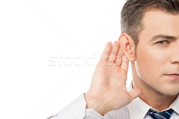 Speak up please i can't hear you !  Stock photo © stockyimages