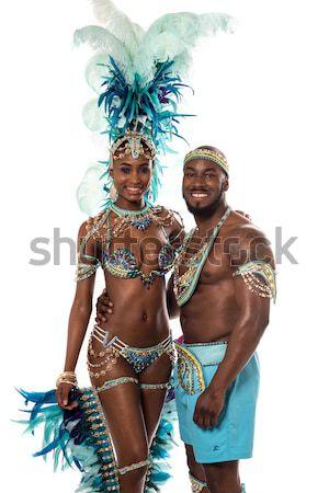 Tánc idő ünnepel fiatal szamba táncosok Stock fotó © stockyimages
