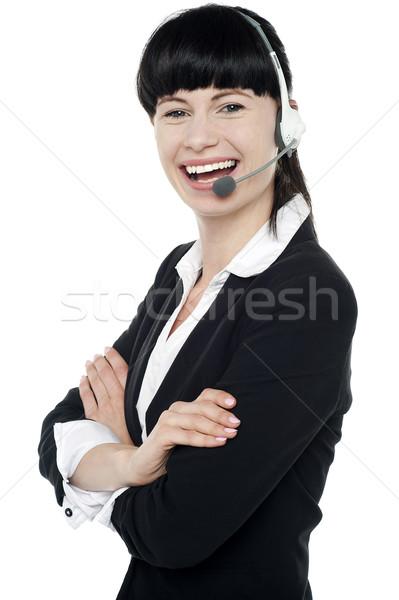 ügyfélszolgálat igazgató élvezi munka pózol bizalom Stock fotó © stockyimages
