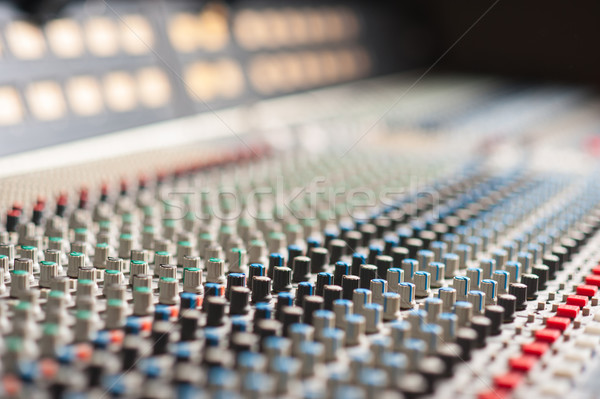 Audio sound mixer with buttons Stock photo © stockyimages