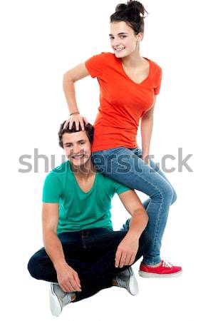 Love of girl and boy. Concept shoot of friendship Stock photo © stockyimages