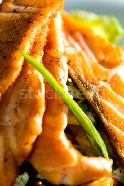 Zdjęcia stock: łososia · warzyw · serwowane · obiedzie · gotowy