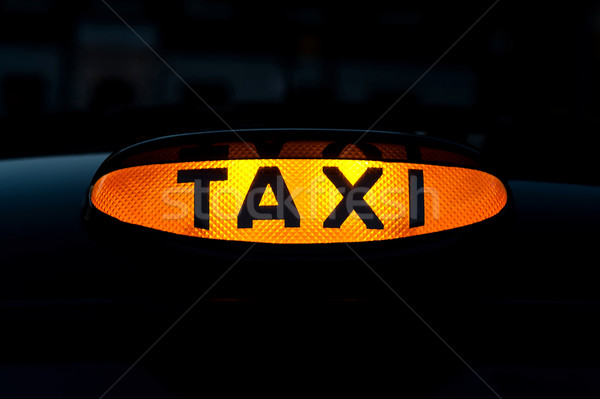 Taxi logo highlighted Stock photo © stockyimages