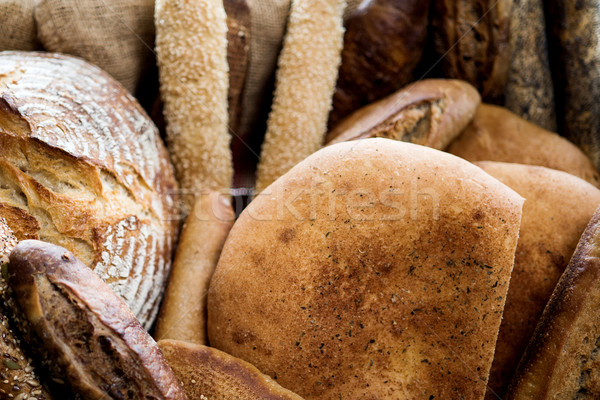 Assorted bread pieces Stock photo © stockyimages