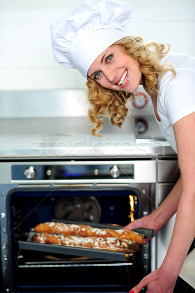 Stock photo: Freshly made baguette is ready for you