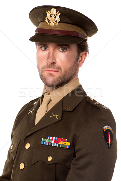 Young proud military officer Stock photo © stockyimages
