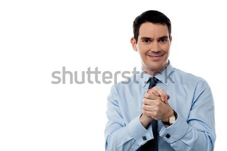 Business man with clasped hands Stock photo © stockyimages