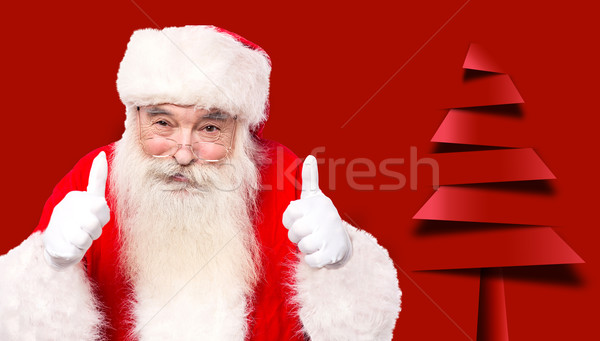 Santa claus giving thumbs up gesture Stock photo © stockyimages