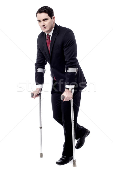 Crutches really help me to walk. Stock photo © stockyimages