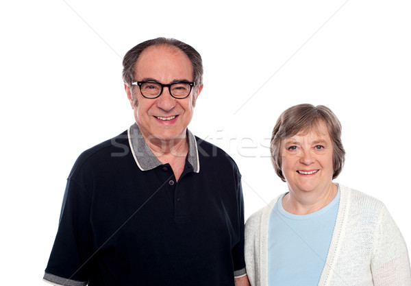 Matured couple posing. Husband and wife Stock photo © stockyimages