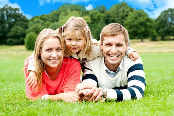 счастливым молодые семьи дочь улице Сток-фото © stockyimages