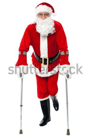 Confident old man in Santa costume Stock photo © stockyimages