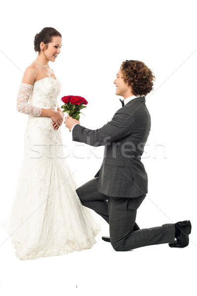 Accept my token of love Stock photo © stockyimages