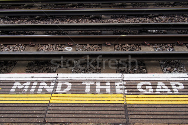 A view of the railway. Please mind the gap. Stock photo © stockyimages