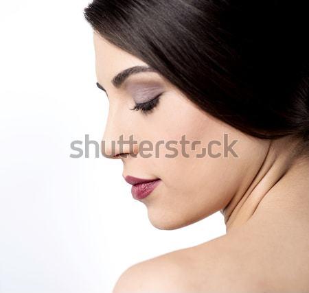 Piel imagen posando top-less Foto stock © stockyimages