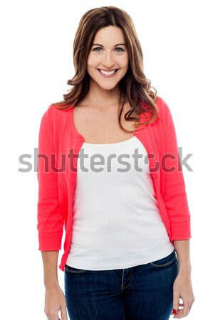 Casual woman posing over white Stock photo © stockyimages