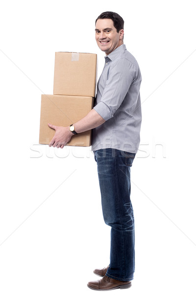 I am in Q to book these parcels.  Stock photo © stockyimages