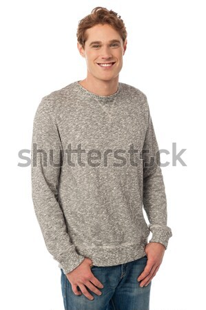 красивый Cool чувак позируют стиль молодые Сток-фото © stockyimages