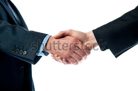 Two business men shaking hands Stock photo © stockyimages