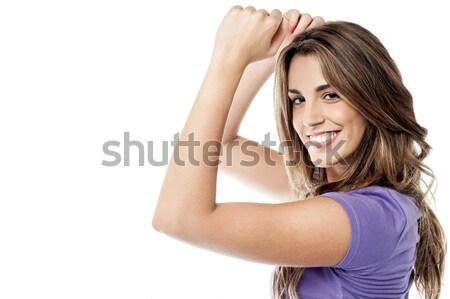 Dançar me meu sintonia menina Foto stock © stockyimages