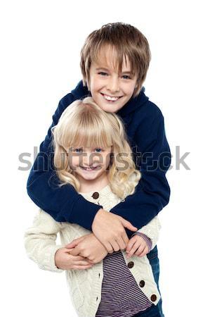 Szeretetteljes testvérek szórakozás együtt fivér lánytestvér Stock fotó © stockyimages