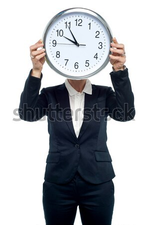 Meeting will be adjourned in five minutes from now Stock photo © stockyimages