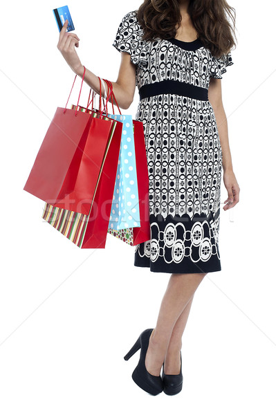Cropped image of a shopaholic woman Stock photo © stockyimages