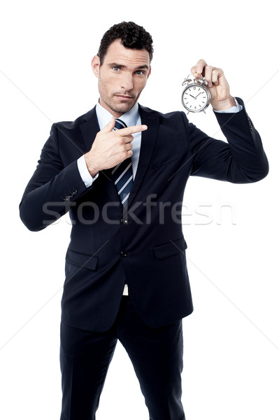 Chronometraż więcej ważny mnie biznesmen Zdjęcia stock © stockyimages