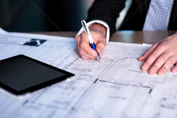 Have some corrections in current plan Stock photo © stockyimages