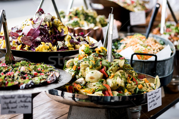 Yummy salads in restaurant.  Stock photo © stockyimages