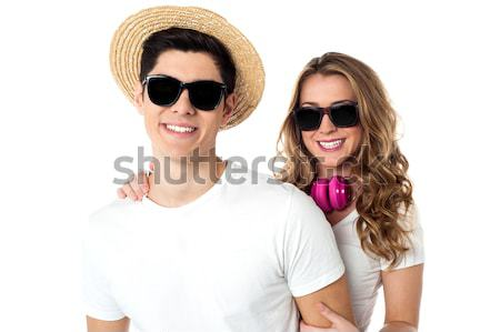 Bastante modelos buena tiempo junto relajante Foto stock © stockyimages
