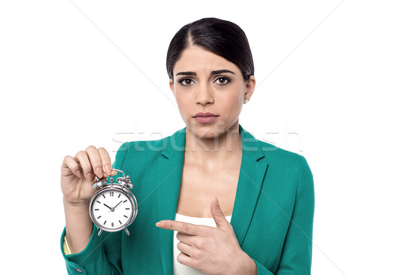 I am late for 10 minutes now.. Stock photo © stockyimages