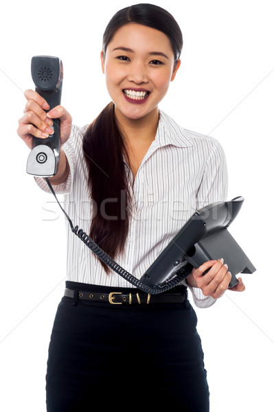 Stock photo: Clients call for you, boss!