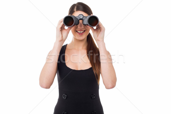 Far sighted corporate lady Stock photo © stockyimages