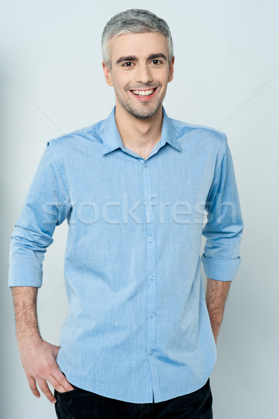 Calm and relaxed middle age man Stock photo © stockyimages