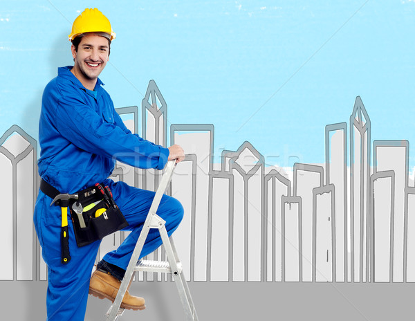 Happy with my job !  Stock photo © stockyimages