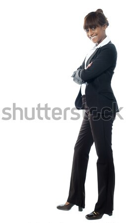 African female manager of a company Stock photo © stockyimages