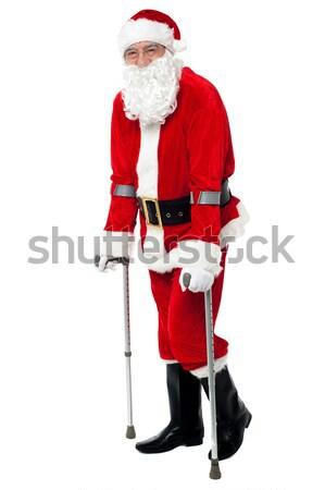 Caminando ayudar muletas discapacidad mano Foto stock © stockyimages