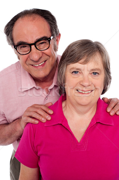 Portrait of smiling matured couple Stock photo © stockyimages