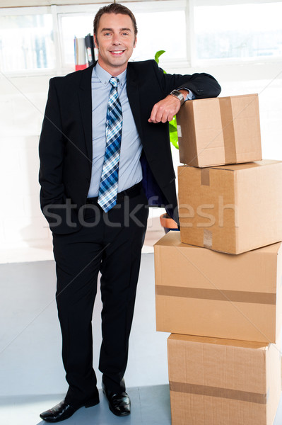 Full length portrait of handsome businessman Stock photo © stockyimages