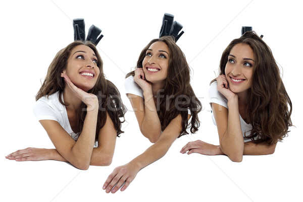 Fashion women lost in thoughts Stock photo © stockyimages