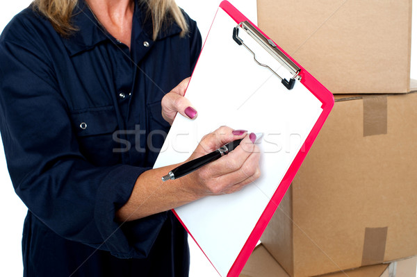 Please put your signature here Stock photo © stockyimages