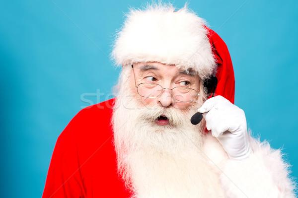 Hola alegre Navidad auricular Foto stock © stockyimages