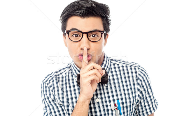 Please don't tell anyone ! Stock photo © stockyimages
