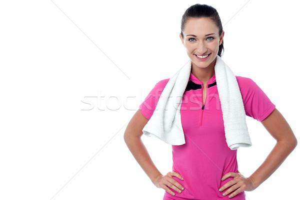 регулярный осуществлять улыбаясь молодые Сток-фото © stockyimages