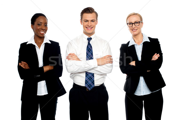 Successful happy business team posing Stock photo © stockyimages