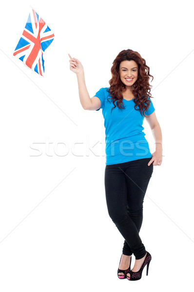Stylish portrait of female UK supporter Stock photo © stockyimages
