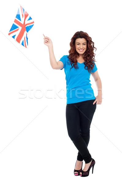 şık portre kadın tam uzunlukta kadın Stok fotoğraf © stockyimages
